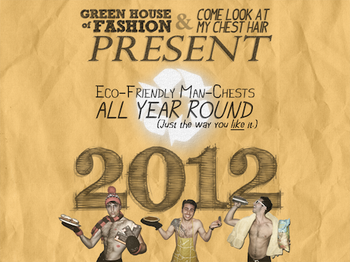 Eco-Friendly Man-Chests Calendar 2012 Cover
