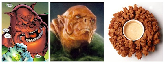 Green Lantern Kilowog Looks Like Blooming Onion